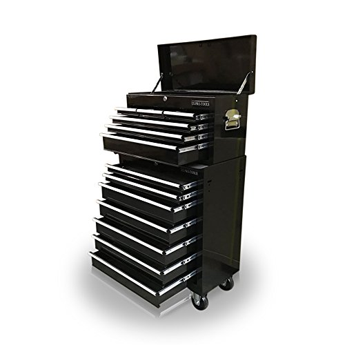 US PRO TOOLS Günstigen Stahl Brust Instrument, Roller Schrank 13Schubladen, schwarz -