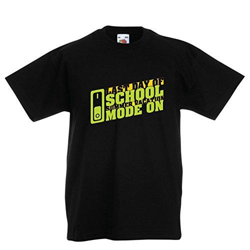 lepni.me Camiseta Niños/Niñas Último Día de Clases, Modo de Vacaciones de Verano: Regalo Perfecto de Graduación (3-4 Years Negro Multicolor)