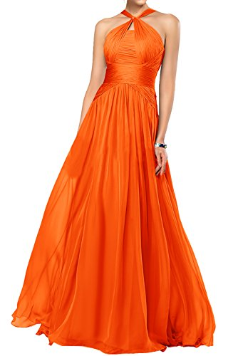 Gorgeous Bride Fashion Rabatte Empire Chiffon Lang Abendkleider Festkleider Ballkleider Orange