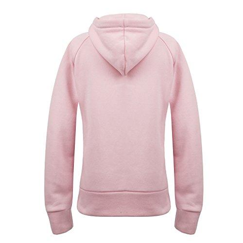 Kapuze Pullover Damen Pulli Hoodie Sweatshirt Kapuzenpullover mit Fleece-Innenseite Herbst Winter Rose
