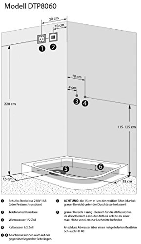 AcquaVapore DTP8060-7302R Dusche Dampfdusche Duschtempel Duschkabine 80x120, EasyClean Versiegelung der Scheiben:2K Scheiben Versiegelung +89.-EUR - 6
