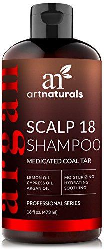 Art Naturals Champú De Alquitrán De Hulla Scalp 18 Terapéutico Y Anticaspa 473 ml.