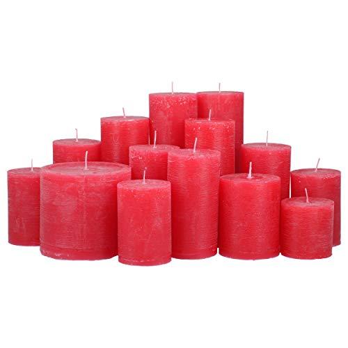 4,5 Kilo Stumpenkerzen Farbe rot durchgefärbt von Kerzenwelt, 1. Wahl, Kerzenpaket Kerzenset (rot)