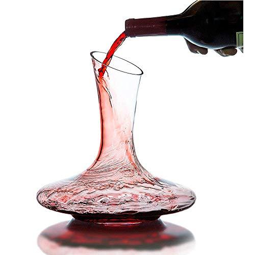 AWLLY Wine Decanter Big Belly Classic Hand-Blowing Lead-Free Crystal Aerator Perfekt für Weihnachtsgetränke/Weinliebhaber 1000ML Lead-free Crystal Decanter