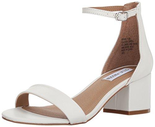 Steve Madden Women's Irenee Heeled Sandal, White Leather, 9 M US
