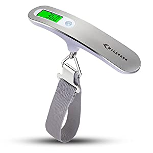 Luggage Scale MYCARBON Portable Digital Scale Electronic Suitcase Scale Hanging Scales Luggage Weighing Scale 110 Pound/ 50 Killogram With Backlit With Tare Function Lightweigh for Travel