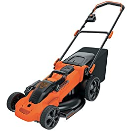 BLACK+DECKER CLMA4825L2-QW Tondeuse sans fil – 48 cm – 7 hauteurs réglables de 38 à 100 mm – 2 Batteries, 36V, Orange, 48 cm