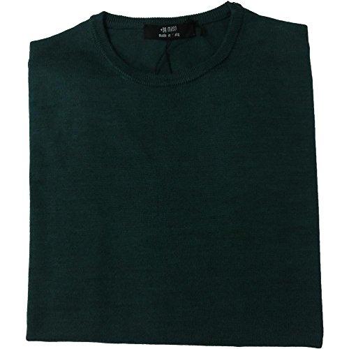Masq Rebel Maglia uomo 1352 - Girocollo Finezza 12, 43% acrilica 25% lana merinos 17% poliammide 15% viscosa, Verde (m)