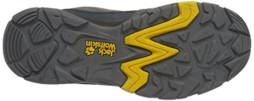 Jack Wolfskin Mtn Attack 5 Texapore Low M, Scarpe da Arrampicata Uomo Grigio (Burly Yellow Xt)