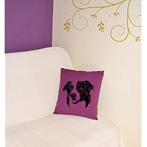 Border Collie, il cuscino con il cane, decorazione domestica, tessuto di alta qualità, 5 colori