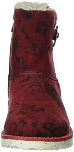 s.Oliver 46411, Bottes Courtes Fille Rouge (Bordeaux Multi 545)