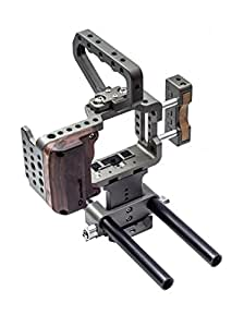 Motionnine Cube BMPCC cage + Rod Riser with 150mm Rods for Black Magic Pocket Cinema Camera Motion9