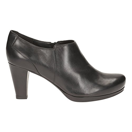 Clarks Chorus True 261195134 femmes Bottine Black Leather