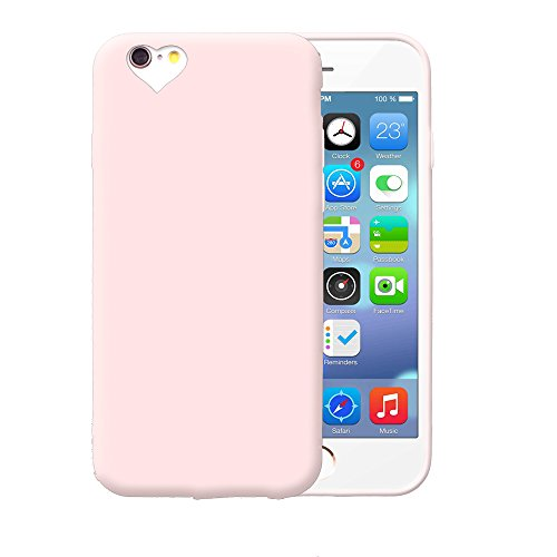 iProtect TPU Schutzhülle Apple iPhone 6, 6s Soft Case in matt Rosa love rosa