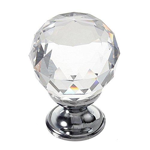 PANGUN 30Mm Diamantkristall Knopf Schranktür Schubladen-Pull-Griff-Klar