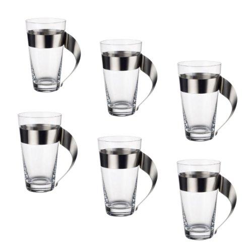 Villeroy & Boch 11-3737-3421 NewWave Caffe Latte Macchiato Glas-Set 6-teilig, 0.3 Liter