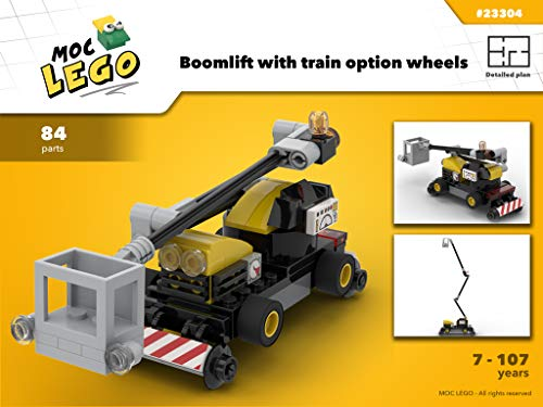 Boom Lift (Boom lift for train (Instruction Only): MOC LEGO (English Edition))