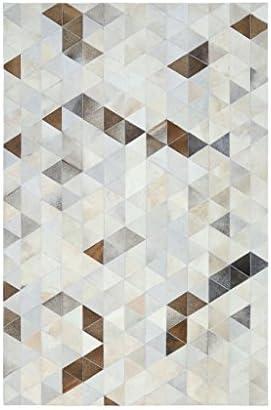 ZHHL Tappeti importati della stuoia della della stuoia pelle bovina per la decorazione della camera da letto del salone Tappeto geometrico rettangolare (dimensioni   140  200CM) f4a553