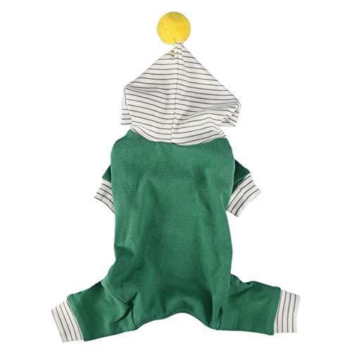 Zerodis Hundepullover, Baumwolle, mit Kapuze, warm, mit Hut, für Katzen