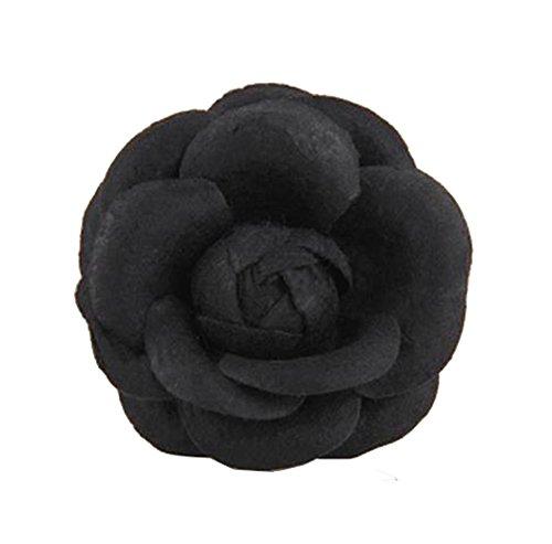 Cheerlife Ansteckblume, Haarblume Haarschmuck Haarblüte Haarclip Haarklipp Blumen Brosche Blumen Schwarz