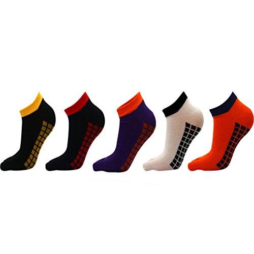 YouPue Sommer Unisex Toe Socken Low Rise Zehensocken Freizeit Sport Sneaker Und Herren Socken Bunte Streifen Casual Breath 5 Paar 39-44 (Casual Low Socken)