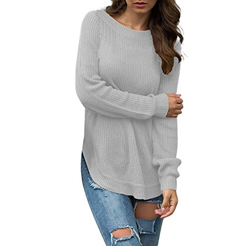 Pullover Sweatshirt für Damen,Kobay 2019 Halloween Heiligabend Weihnachten O-Ausschnitt Solide Langarmbluse Loses T-Shirt Oberteile - Borg Halloween Kostüm