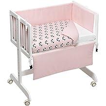 Funny Baby Codream - Minicuna colecho con vestidura y colchón, color pandy rosa