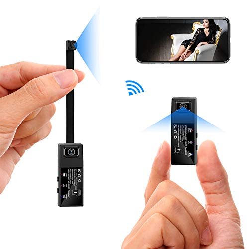 WiFi-Minikamera Dual abnehmbare Linse 1080P HD-Minikameras Kabellose Kleinbildkamera P2P/Motion Detection Video Home Indoor Sicherheitskamera (für iPhone/Android Phone/iPad/PC Remote View) - Hd-linsen