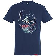 Pampling Camiseta The Upside Down - Stranger Things - Eleven - Color Azul Marino - 100% Algodón - Serigrafía de Alta Calidad