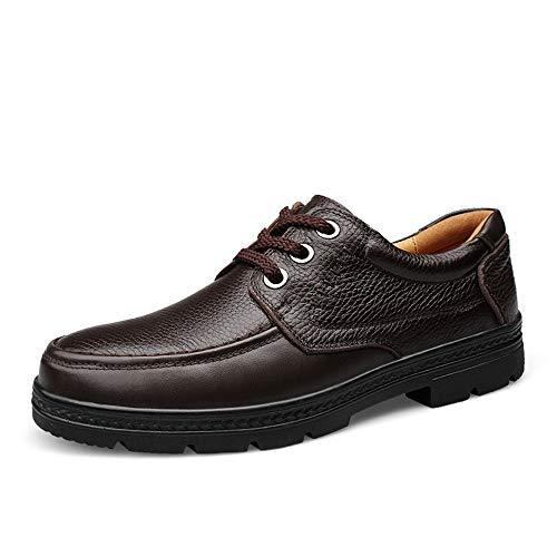 Y-WEIFENG New Herren Business Oxford Casual Herbst und Winter New Rubebr Outsole Formelle Schuhe (Color : Braun, Größe : 41 EU)
