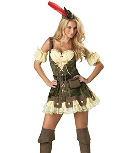 Das Gute Leben Damen 7 Stück Qualität Robin Hood Oktoberfest Bier Maid Kostüm Größe 38-40