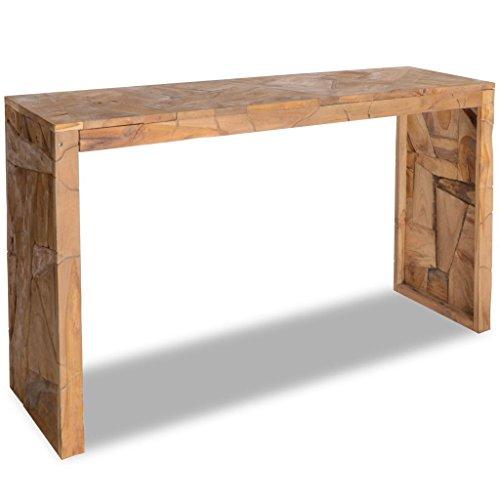 Festnight tavolo consolle soggiorno design moderno erosione in legno,tavolo consolle ingresso,tavolo consolle salotto,tavolino laterale da salotto decoraivo design moderno in legno 120x35x76 cm