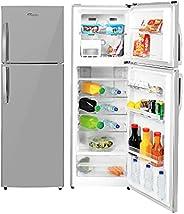 Super General 360 Liters Gross Compact Top-Mount Refrigerator-Freezer, No-Frost, LED-light, Inox, SGR360l, 54.