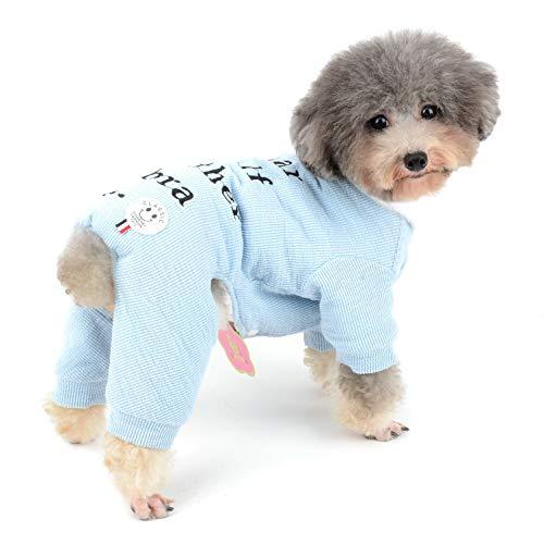 (Zunea Strick-Pyjama für Kleine Hunde, Jungen, Mädchen, Welpen, Pullover, Strampler mit weichem Fleece-Futter, für den Winter, warme Baumwolle Outfits für Kaltes Wetter)