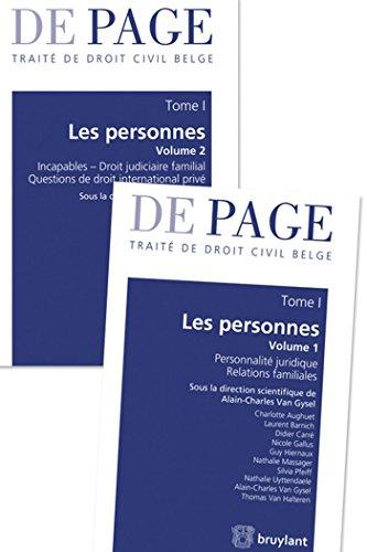 Traité de droit civil belge - Tome I : Les personnes. Volumes 1 et 2: Tome 1 : Les personnes. Volumes 1 à 2 par Charlotte Aughuet