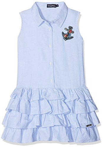 Conguitos Mädchen Kleid Vestido Camisero Niña, Blau (Celeste), 128 cm (De Vestido Ninas)