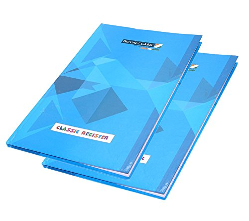 2 pack A4 classic register notebook hard cover/writing notes for office and students, 216 pages, single line
