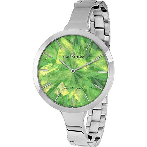 Jacques Lemans Women's Steel Bracelet Case Quartz Green Dial Watch 1-2032F