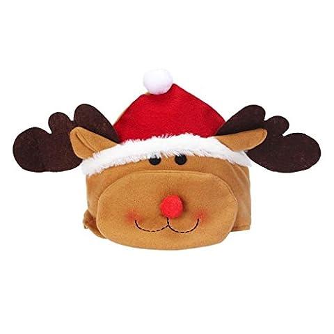 LUFA Enfants Fête de Noël Joyeux Enfants Elk Hat Cozy douce et chaude de Santa Coiffe