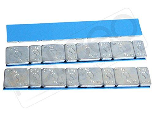 25 Bullone Nero Pesi Equilibratura 5g 4+10 G 4 Adesivi 1,5kg Striscia