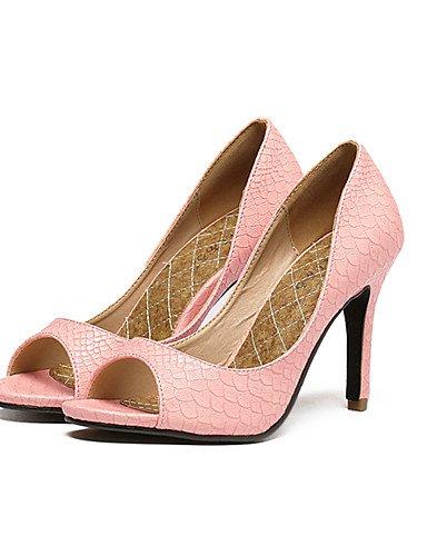 GS~LY Da donna-Tacchi-Formale / Serata e festa-Tacchi / Spuntate / Plateau-A stiletto-Finta pelle-Nero / Blu / Rosa / Argento pink-us5 / eu35 / uk3 / cn34