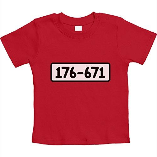 en Bande Kostüm Karneval Unisex Baby T-Shirt Gr. 66-93 12-18 Monate / 86 Rot (Banditen Kostümen)
