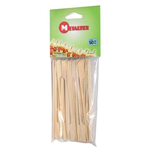 Metaltex 570110010legno Picker 15cm in bambù, 50pezzi