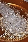 Flomans® - Dekosteine klar Diamanten 6mm 1000 Stück Acryl Tischdeko Hochzeit