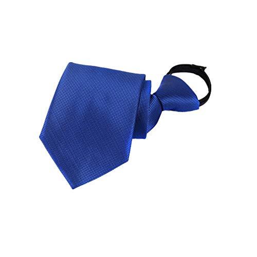 Xzwdiao Krawatten Fauler Reißverschluss Mit Reißverschluss 8Cm, Saphirblau (Bekleidung Fauler)