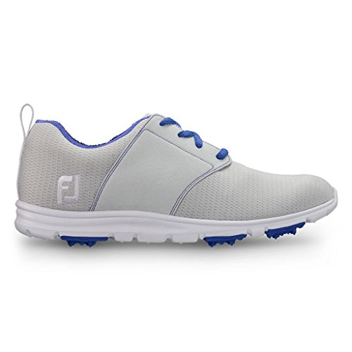 FJ enJoy Damen Golfschuhe - Spikeless & Ultrabequem (40, Grey/Blue)
