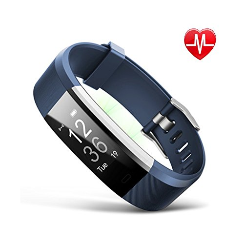GXIAO ID115Plus Activity Tracker Smart Bracelet IOS and Android 0.96 inches OLED Heart Rate Monitor Call Reminding Pedometer Black, Blue, Green, Purple, Red