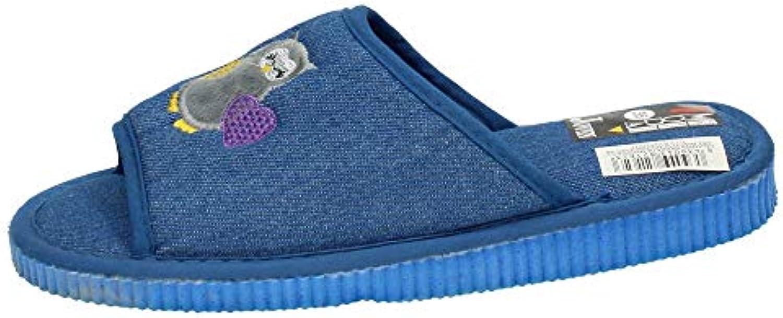 Made IN Spain 302-803 BABUCHAS con BUHOS Mujer Zapatillas CASA
