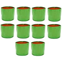 """voolex Terrace Gardening HDPE Grow Bags for Vegetable Plants (12""""x15"""" Inches, 30cms(L) X 38cms(H)) - Pack of 10"""