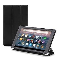 Nupro Hülle für Fire HD 8-Tablet, faltbar und mit Standfunktion, Schwarz